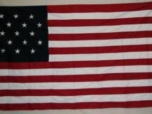 15 Star Star Spangled Banner USA with 15 Stripes Cotton Flag 3 x 5 ft.