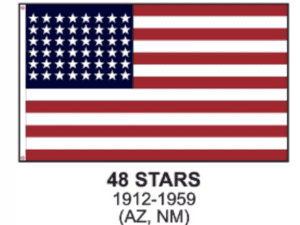 48 Star US Flag – Nylon Sewn Applique Stars (USA Made)