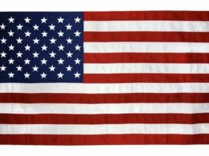 American Flag 2 1/2 ft x 4 ft tough tex Made in USA 2 Grommets