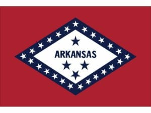 Arkansas Flag 3 x 5 ft. Nylon Dyed (USA Made)
