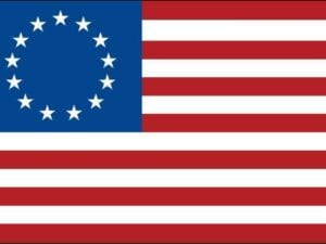 Betsy Ross Flag 5×8 ft  Nylon Fully Sewn Flag (USA Made)