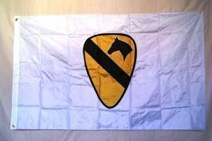 1st Cavalry Division ( White) Flag Double Nylon Embroidered 3 x 5 ft.
