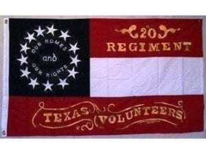 20th Regiment Texas Volunteers Flag Double Nylon Embroidered 3 x 5 ft.