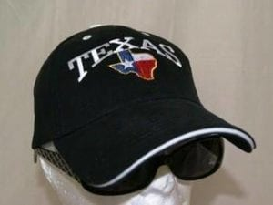 Black Texas Map Cap
