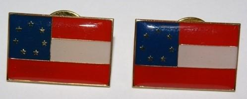 vendor-unknown Lapel Pin 1st National 7 Stars Confederate Flag Pin