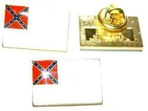 2nd National Confederate Flag Lapel Pin
