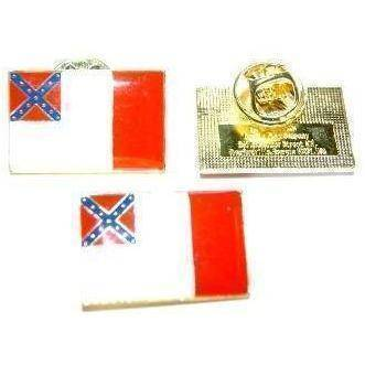 vendor-unknown Lapel Pin 3rd National Confederate Flag Pin