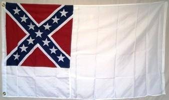 2nd National Confederate Flag Double Nylon Embroidered 3 x 6 ft.
