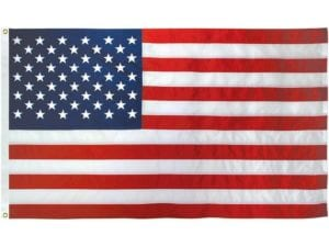 50 Star USA Nylon Embroidered Outdoor Flag 3′ 6″ x 6′ 8″ (42″ x 80″) (USA Made)