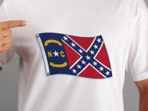 North Carolina Rebel T-shirt Large