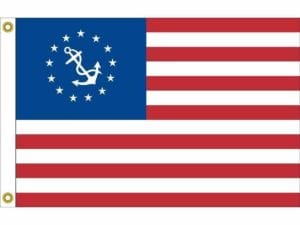 U.S. Yacht Ensign Sewn & Embroidered Nylon Flag 16″ x 24″ (USA MADE)