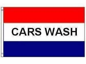 Cars Wash Flag (sign flag) 3 X 5 ft. Standard