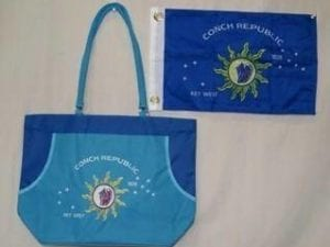 Conch Republic Logo – Key West – Beach Bag
