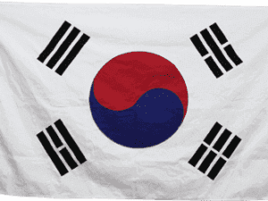 South Korea Cotton 3 x 5 Flag