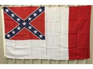 Confederate – CSA – 3rd National Flag 3 x 5 – Standard Duplicate