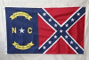 North Carolina Rebel Flag – Yellow Letters – NC Rebel Flag 3 X 5 ft. Standard