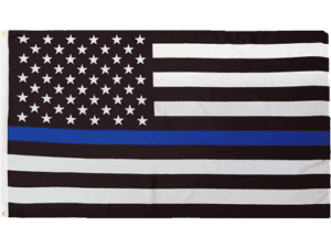 Police Thin Blue Line USA Flag 3 X 5 ft. Rough Tex