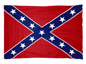 Rebel Flag – Confederate Battle Flag –  Cotton -4×6 Ft