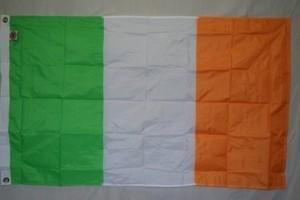 Ireland Flag Nylon Embroidered Casket Ceremonial 5 x 9 1/2 feet Made in America