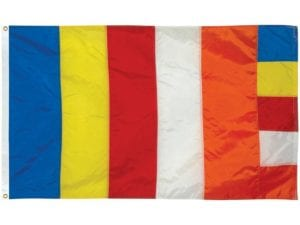 Buddhist Flag  3 ft x 5 ft Fully Sewn Flag (USA MADE)