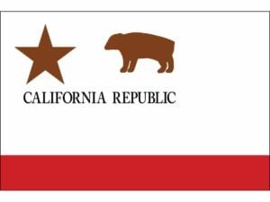 California Republic Flag 3 x 5 Nylon Dyed – Made in USA