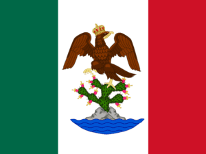 First Mexican Empire – Mexico Flag – Nylon Dyed – Custom – 3 x 5 ft (USA Made)