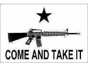 M4 Carbine Come and Take It (White) Flag 3 X 5 ft. Standard