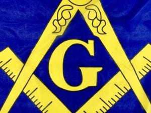 Masonic Flag Yellow Logo Blue Field 3 X 5 ft. Standard