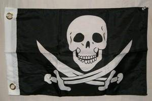 RU Flag Pirate with Swords Calico Jack 12 x 18 inch with grommets Flag Standard