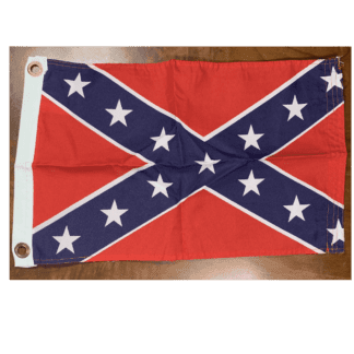RU Flag Rebel Flag -Confederate Battle Flag - 12 X 18 inch - with grommets Standard