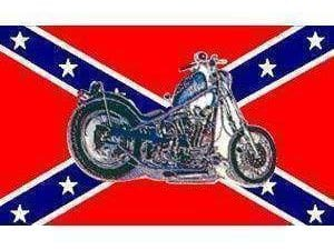 Rebel Motorcycle Flag 3 X 5 ft. Standard