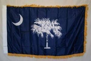 RU Flag South Carolina Nylon Printed Flag 3 x 5 ft. with Fringes
