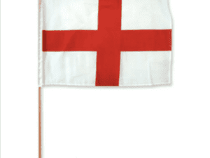 St. George's Cross/ England Flag 12 x 18 inch on a stick