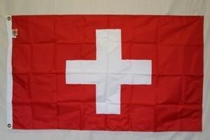 Switzerland Flag Nylon Embroidered 3 x 5 ft.