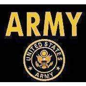 U.S. Army Gold Flag 4 X 6 inch on stick