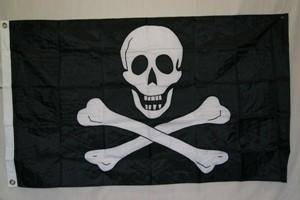 vendor-unknown Flags By Size Pirate Jolly Roger No Patch Flag Nylon Embroidered 2 x 3 ft.