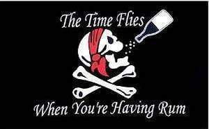 Pirate Time Flies When You're Having Rum Flag 3 X 5 ft. Standard
