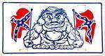 vendor-unknown Flag Rebel Monsters Dixie Confederate License Plate