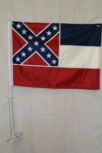 State of Mississippi Double Sided Car Flag