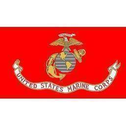 USMC Marines 12 x 18 With Sleeves Knitted Nylon Flag