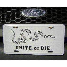 Unite or Die License Plate