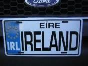 Ireland Eire License Plate