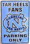 vendor-unknown License Plates and Metal Signs Carolina Tar Heels Fans Parking Only