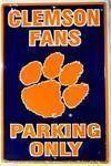 vendor-unknown License Plates and Metal Signs Clemson Fans Parking Only