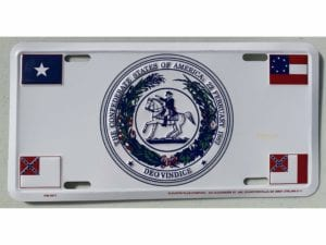 CSA Seal 4 flags License Plate