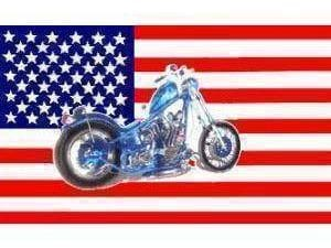 USA Motorcycle Flag 3 X 5 ft. Standard