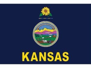 Kansas 3 x 5 Nylon Dyed Flag (USA Made)