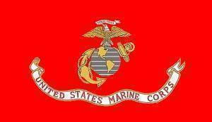 USMC, Marine Corps Flag 6 x 10 Nylon Dyed Flag (USA Made)