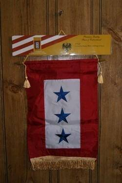 Service 3 Three Star Flag 8 x 16 inch with grommets