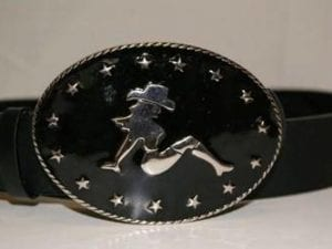 Cowboy Girl Belt Buckle